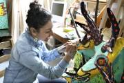 L'artiste visuelle Dinorah Catzalco... (Patrick Woodbury, Archives Le Droit) - image 7.0
