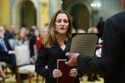 La nouvelle ministre des Affaires étrangères,Chrystia Freeland.... (Photo Sean Kilpatrick, PC) - image 2.0