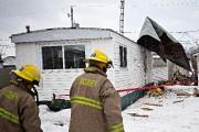 Les rafales ont arraché le toit d'une maison... (Patrick Sanfaçon, La Presse) - image 1.0