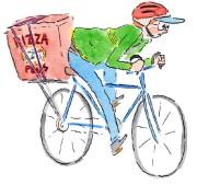 Arthur le livreur de pizza de Tout garni,... (Illustration Pascal Girard, fournie par La Pastèque) - image 2.0
