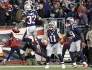 Le demi-offensif des Patriots de la Nouvelle-Angleterre a... (AP, Steven Senne) - image 4.0