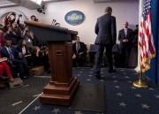 Les deux derniers mots du 44eprésident des États-Unis... (AFP, Brendan Smialowski) - image 2.0