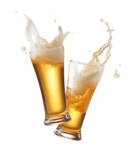 49136299 - two glasses of beer toasting creating... - image 1.0