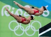 Meaghan Benfeito et Roseline Filion aux Jeux olympiques... (PhotoFrank Gunn, archives La Presse canadienne) - image 1.0