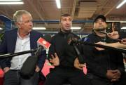 Yvon Michel, Lucian Bute et Angel Heredia... (Photo Robert Skinner, La Presse) - image 2.0