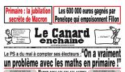 Le candidat de droite à la présidentielle française,... (Photo de la Une du journal Le Canard enchaîné) - image 1.0