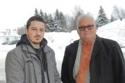 L'ex-détenu David Gilbert et son gérant, Serge Bergeron,... (Le Progrès-Dimanche, Gimmy Desbiens) - image 4.0