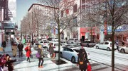 La réfection de la rue Sainte-Catherine Ouest est... (IMAGE FOURNIE PAR LA VILLE DE MONTRÉAL) - image 1.0