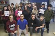 Les 17 élèves de l'option journalisme, de l'école... (Photo Le Progrès-Dimanche, Mélissa Viau) - image 2.0