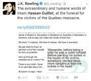 Même J.K.Rowling, l'auteure de la série HarryPotter, a... (IMAGE TIRÉE DE TWITTER) - image 1.0
