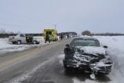 Une collision frontale a fait une blessée à... (Photo Le Quotidien, Louis Potvin) - image 1.0