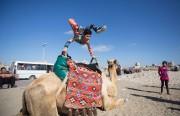 Le jeune contorsionniste palestinien Mohammed al-Cheikh, est une... (AFP, MAHMUD HAMS) - image 2.0
