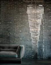 Lustre contemporain, en verre et nickel de OCHRE.Crédit... (MAISON&OBJET) - image 2.0
