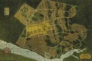 Plan lithographique de la future ville d'Arvida de... (Courtoisie Centre d'histoire Sir-William Price, Ville de Saguenay) - image 2.0