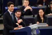 Le premier ministre Justin Trudeau s'est adressé au... (PHOTO FREDERICK FLORIN, AGence France-Presse) - image 1.0