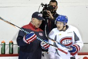 Claude Julien et Brendan Gallagher.... (photo Bernard Brault, La Presse) - image 1.1