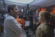 Denis Villeneuve et Amy Adams pendant le tournage... (Fournie par Paramount Pictures) - image 1.0