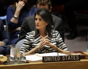 L'ambassadrice américaine à l'ONU, Nikki Haley... (PHOTO Seth Wenig, ARCHIVES AP) - image 1.0
