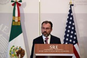 Le ministre mexicain des Affaires étrangères,Luis Videgaray.... (Photo Ronaldo SCHEMIDT, AFP) - image 1.0