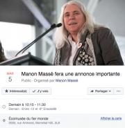 Manon Massé devrait annoncer dimanche matin qu'elle... (Tirée de Facebook) - image 2.0