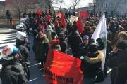Environ 300 personnes ont manifesté devantl'hôtel de ville... (La Presse, Simon Giroux) - image 3.0