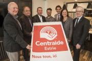 Yves Jodoin et Claude Forgues, de Centraide, Christian... (Spectre Média, Frédéric Côté) - image 1.0
