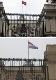 Un homme a escaladé le consulat néerlandais à... (Photo AP) - image 2.0