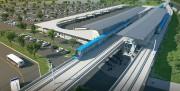 Le terminal Rive-Sud REM... (ILLUSTRATION FOURNIE PAR CDPQ Infra inc.) - image 1.0