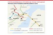 En jaune: le trajet suggéré pour un train-tram... (Infographie Le Soleil) - image 2.0