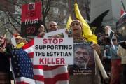 Protestataires devant la Maison-Blanche.... (Photo NICHOLAS KAMM, AFP) - image 1.0