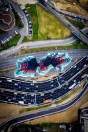 Création de l'artiste 1010 sur l'autoroute périphérique de... (Photo Milan Poyet, fournie par le festival Mural) - image 1.1