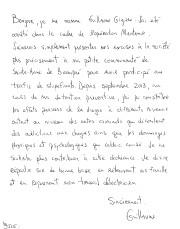 Une lettre d'excuse de Guillaume Giguère déposée au... - image 2.0