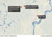 Cette carte montre les trois endroits où s'est... (La Presse Canadienne) - image 1.1