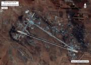 Photo satellite de la base aérienne de Shayrat.... (PHOTO FOURNIE PAR LE DÉPARTEMENT AMÉRICAIN DE LA DÉFENSE) - image 1.0