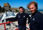 Les porteurs du projet, le navigateur Victorien Erussard,... (AFP, DAMIEN MEYER) - image 1.0