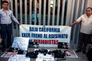Des journalistes protestent à Tijuana, au Mexique, à... (AFP, GUILLERMO ARIAS) - image 20.0