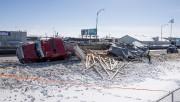 Le camion conduit par Steve Boilard s'est retrouvé... (Stéphane Lessard) - image 2.0