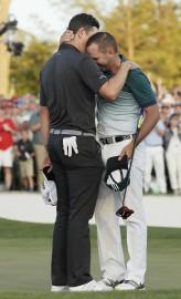 Justin Rose et Sergio Garcia se sont fait... (AP) - image 2.0