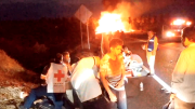 La collision entre les deux véhicules a provoqué... (AFP, STR) - image 1.0