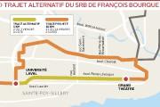 Le trajet alternatif du SRB tel que proposé... (Infographie Le Soleil) - image 1.0