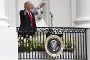 Donald Trump participait lundi à son premier «Egg... (AP, Carolyn Kaster) - image 3.0
