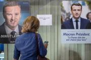 L'affiche de Marine Le Pen absente d'un bureau... (AFP, Jack Guez) - image 2.0