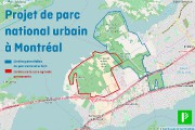 Cette carte illustre le projet de parc national... (Fournie par Projet Montréal) - image 1.0