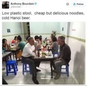 Une photo du président Obama sur le fil... (Photo tirée de Twitter) - image 3.0