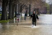 Le niveau de l'eau était en baisse samedi... (PHOTO SIMON GIROUX, LA PRESSE) - image 1.0