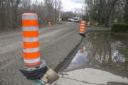 Ce tronçon de l'avenue du Beau-Rivage inondé dernièrement... (Stéphane Lessard) - image 2.0
