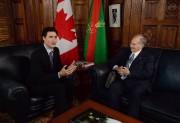 Justin Trudeau a accueilli l'Aga Khan à Ottawa... (PC) - image 2.0