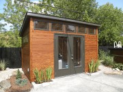 Le petit bâtiment et l'aménagement paysager composent un... (fournie par Cabanons Fontaine) - image 2.0
