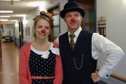 Pierre Tremblay et Mélanie Potvin des clowns thérapeutiques.... (Photo Le Progrès, Michel Tremblay) - image 2.0