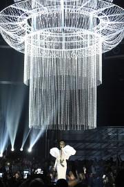 Céline Dion, sous le lustre géant.... (Chris Pizzello, Invision via AP) - image 1.0
